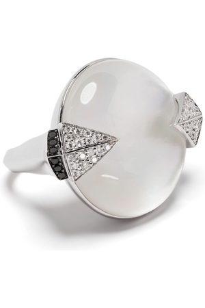 SHAUN LEANE 18kt white gold diamond Tribal Deco ring