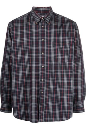 Burberry 2000s checked button-down shirt