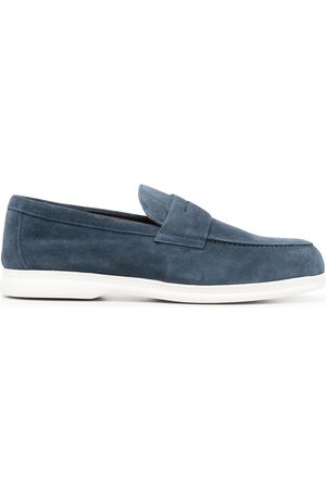 Doucal's Flat leather loafers