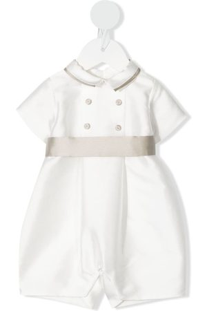LA STUPENDERIA Double-breasted cotton romper