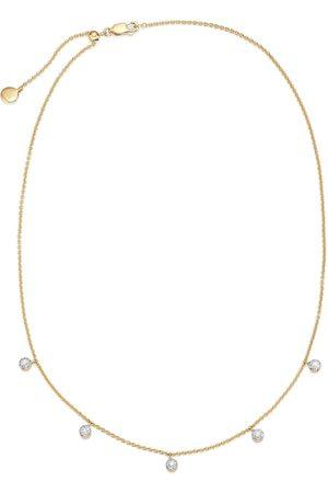 Monica Vinader Fifi tiny button diamond necklace