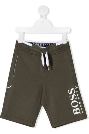HUGO BOSS Logo-print track shorts