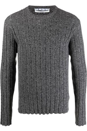 OFF-WHITE Men Jumpers - Arrow band ribbed knit jumper