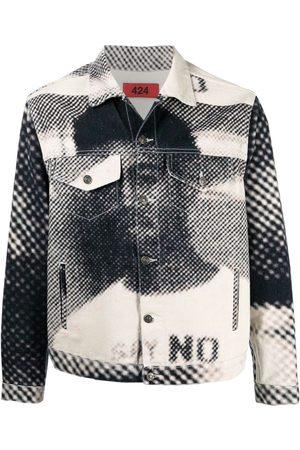 424 FAIRFAX Graphic-print denim jacket