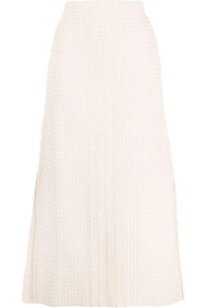 Jil Sander Zig-zag knit A-line skirt