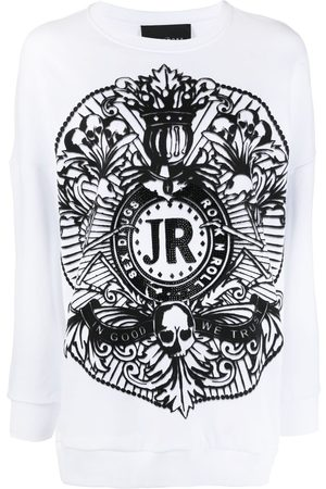 John Richmond Graphic-print cotton sweatshirt