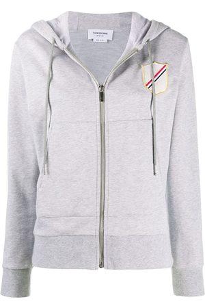 Thom Browne Patch-detail zip-up hoodie