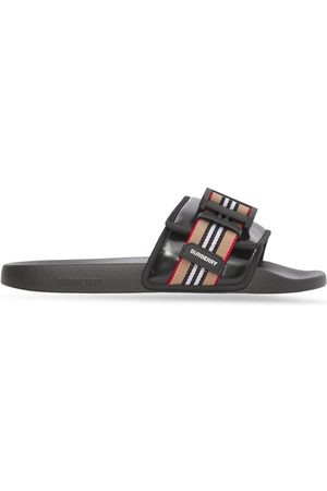 Burberry Icon Stripe buckled slides