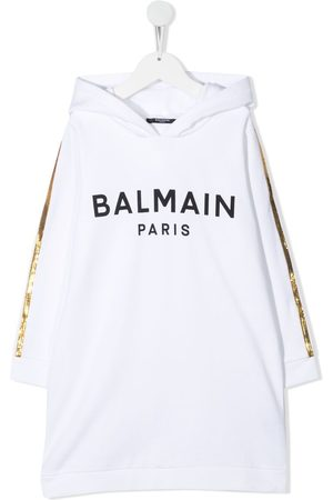 Balmain Logo-print cotton dress