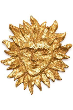 Yves Saint Laurent 1990s sun face brooch