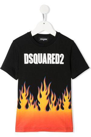 Dsquared2 Fire-print logo T-shirt