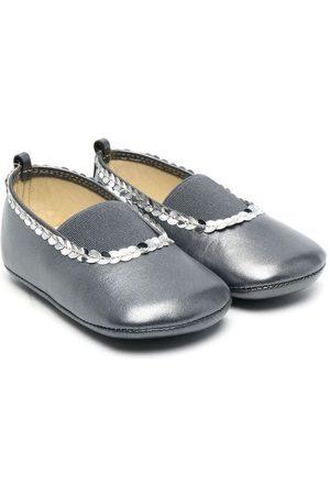 PèPè Sequin-embellished ballerina shoes