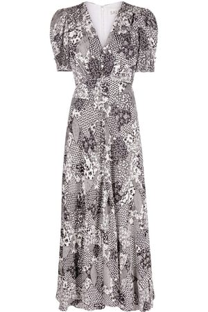SALONI Floral-print midi dress