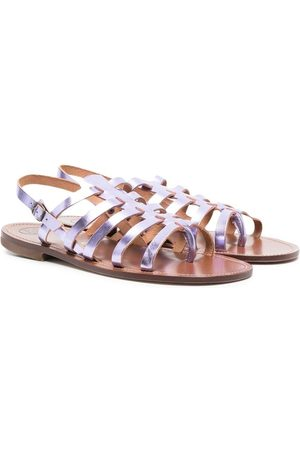 PèPè TEEN strappy metallic sandals