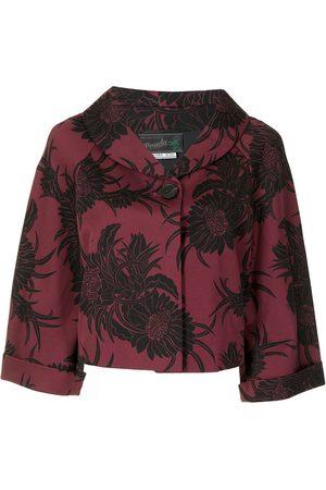 Prada Pre-owned floral-print cropped jacket