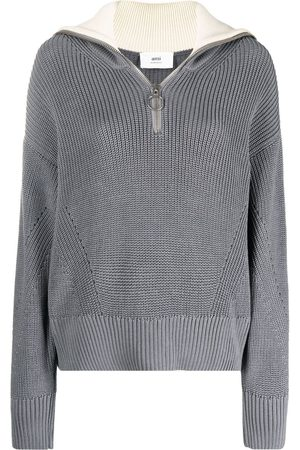 Ami Zip-up knitted jumper