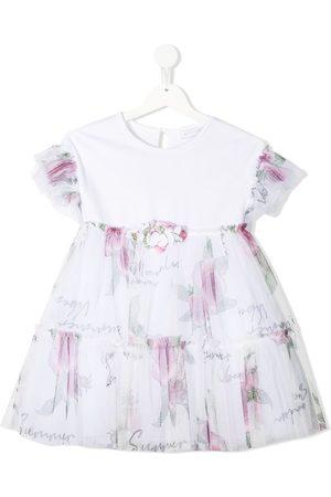 MONNALISA Floral-print mini dress