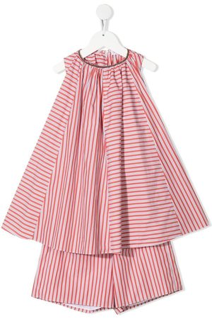 Brunello Cucinelli Striped sleeveless two-piece