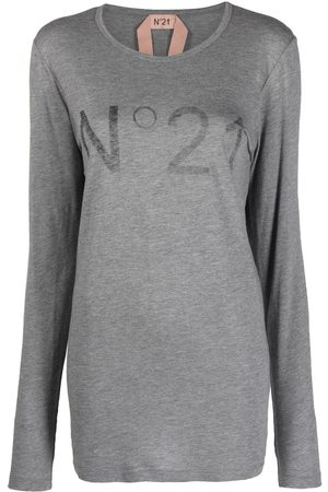 Nº21 Long-sleeved logo T-shirt