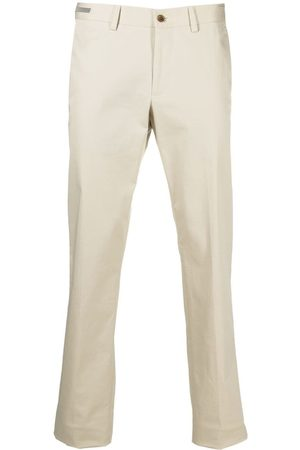 corneliani Pressed-crease cotton tailored trousers