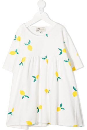 Weekend House Kids Lemon-print dress