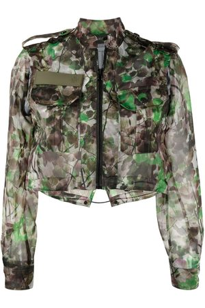 Mr & Mrs Italy Blossom camouflage-print cropped jacket