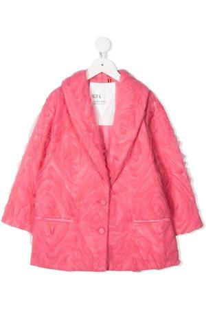 CAROLINE BOSMANS Girls Blazers - Tulle-overlay single-breasted jacket