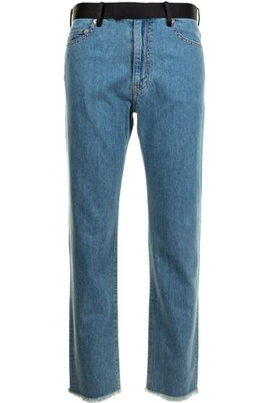 Sueundercover Panelled-waist straight jeans