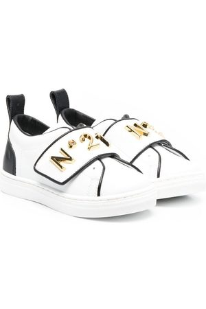 Nº21 Logo-plaque touch-strap sneakers