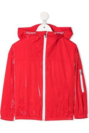 Emporio Armani Metallic-finish logo-print jacket