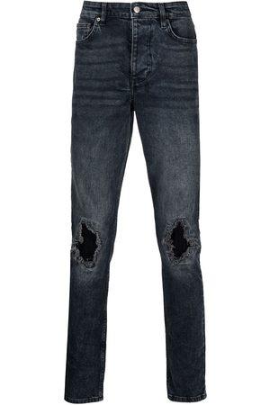 KSUBI Distressed straight-leg jeans