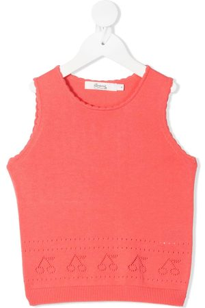BONPOINT TEEN knitted cherry vest top