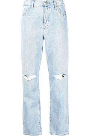 J Brand High rise straight-leg jeans
