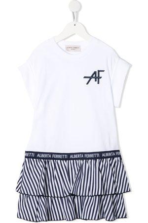 Alberta Ferretti Ruffle-hem jersey dress