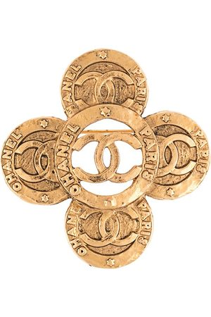 CHANEL CC medallion brooch