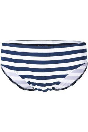 RON DORFF Stripe-print swimming trunks