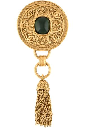 CHANEL 1994 medallion tassel brooch