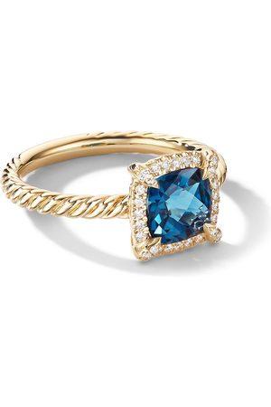 David Yurman 18kt yellow gold diamond Petite Chatelaine ring
