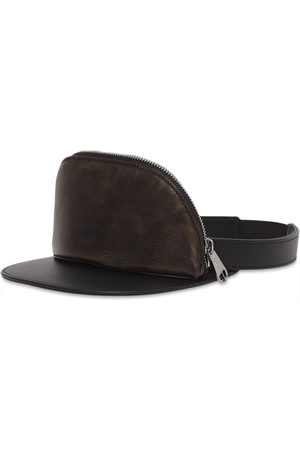 Burberry Leather zip-pocket visor
