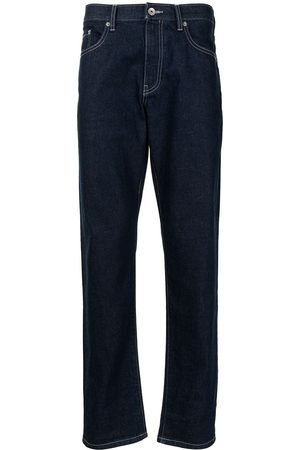 SPORT b. by agnès b. Embroidered straight-leg jeans