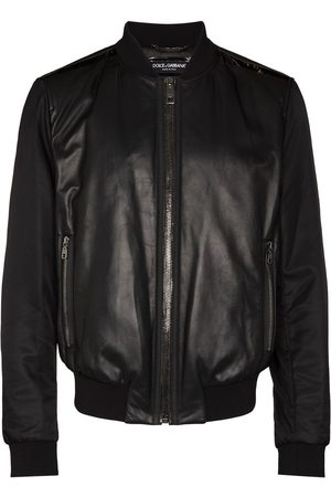Dolce & Gabbana Panelled leather bomber jacket