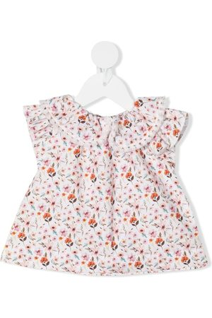 LA STUPENDERIA Floral print flared blouse