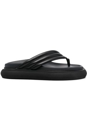 The Attico Chunky-sole leather flip flops