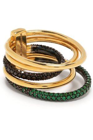 Panconesi Women Rings - Double Solar pavé multi-ring