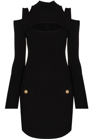 Balmain Cut-out long-sleeve minidress