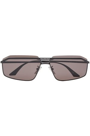 Balenciaga Double-bridge rectangle-frame sunglasses
