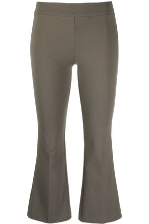 BLANCA Flared leg cropped trousers