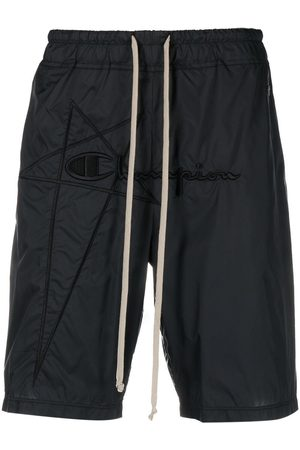 RICK OWENS LILIES Embroidered shell shorts