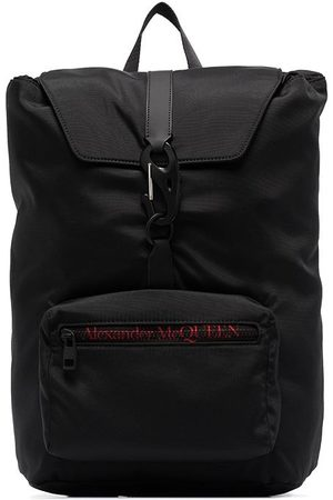 Alexander McQueen Men Rucksacks - Urban logo-print backpack