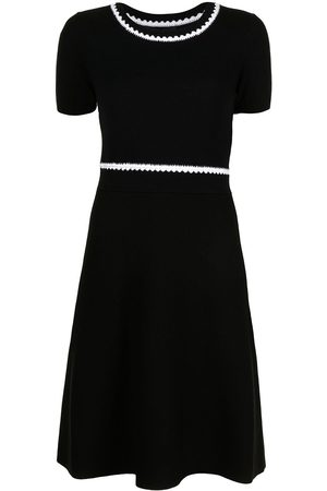 Paule Ka Contrast stitching knitted dress